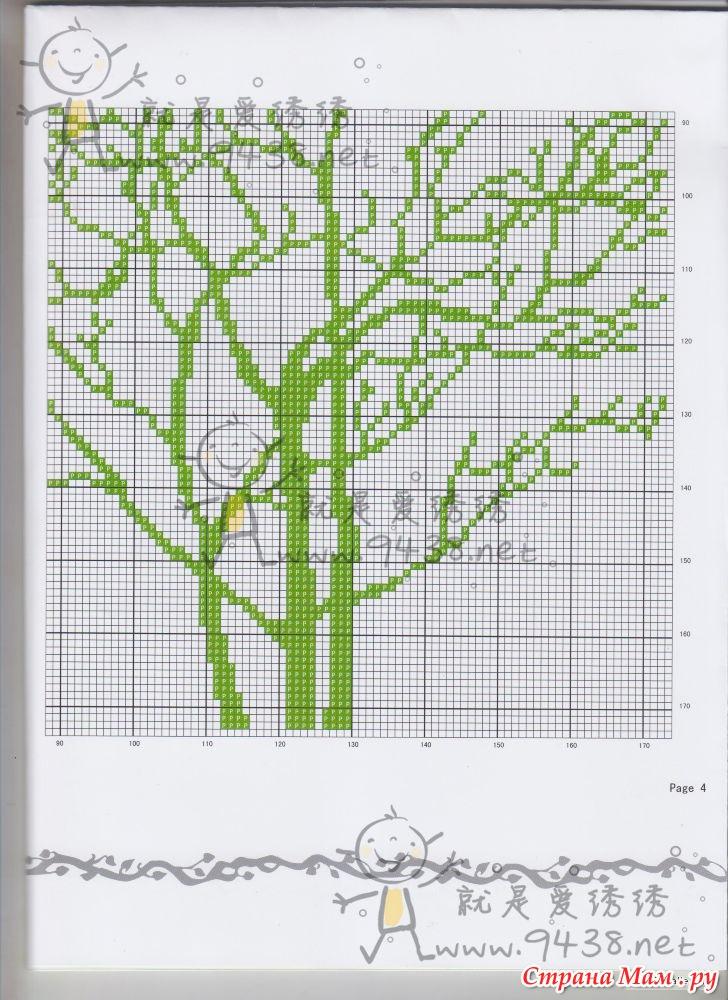 Триптих деревья схема вышивки крестом 66