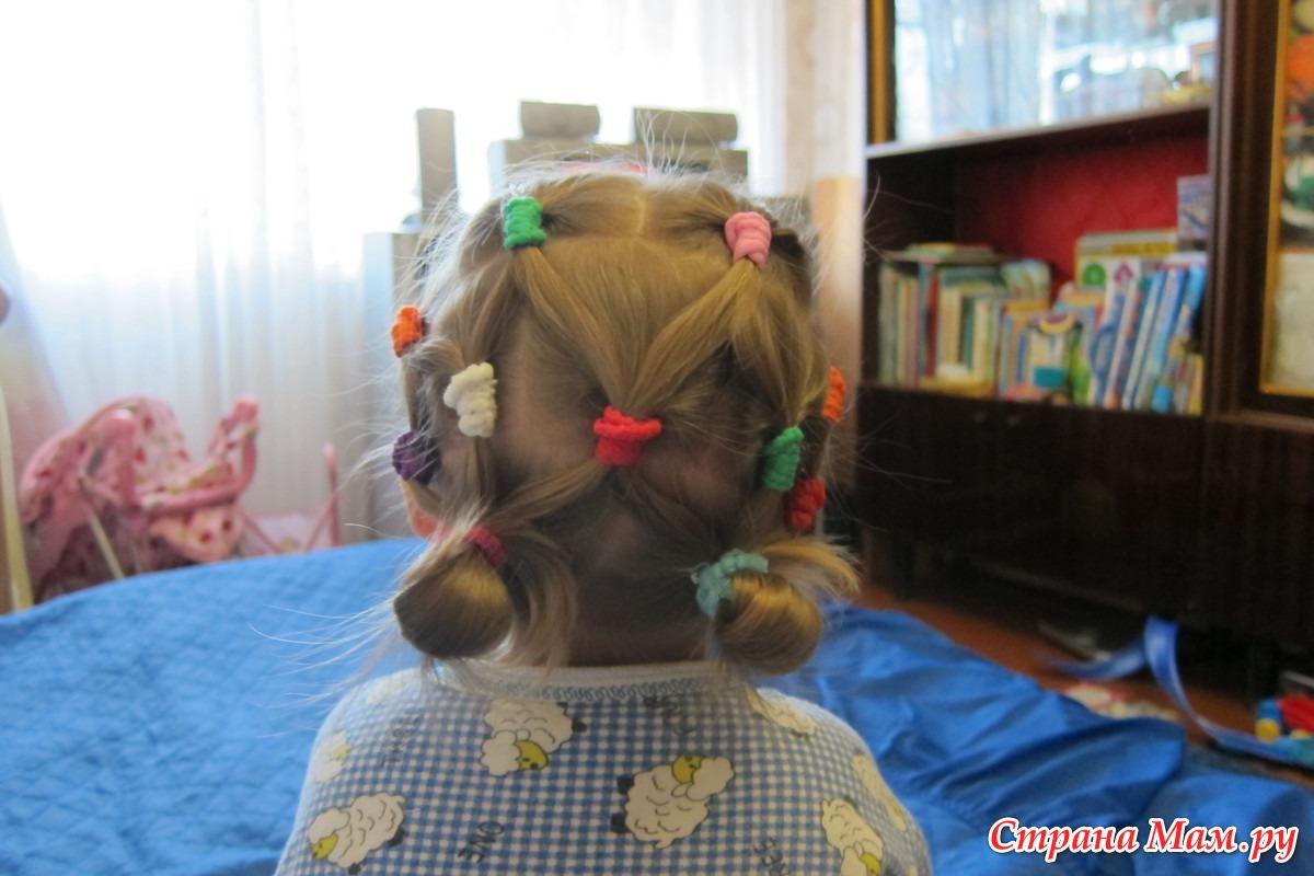 Прически на резинках на короткие волосы 73