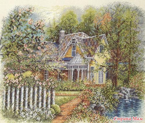 Викторианский домик. Схема в