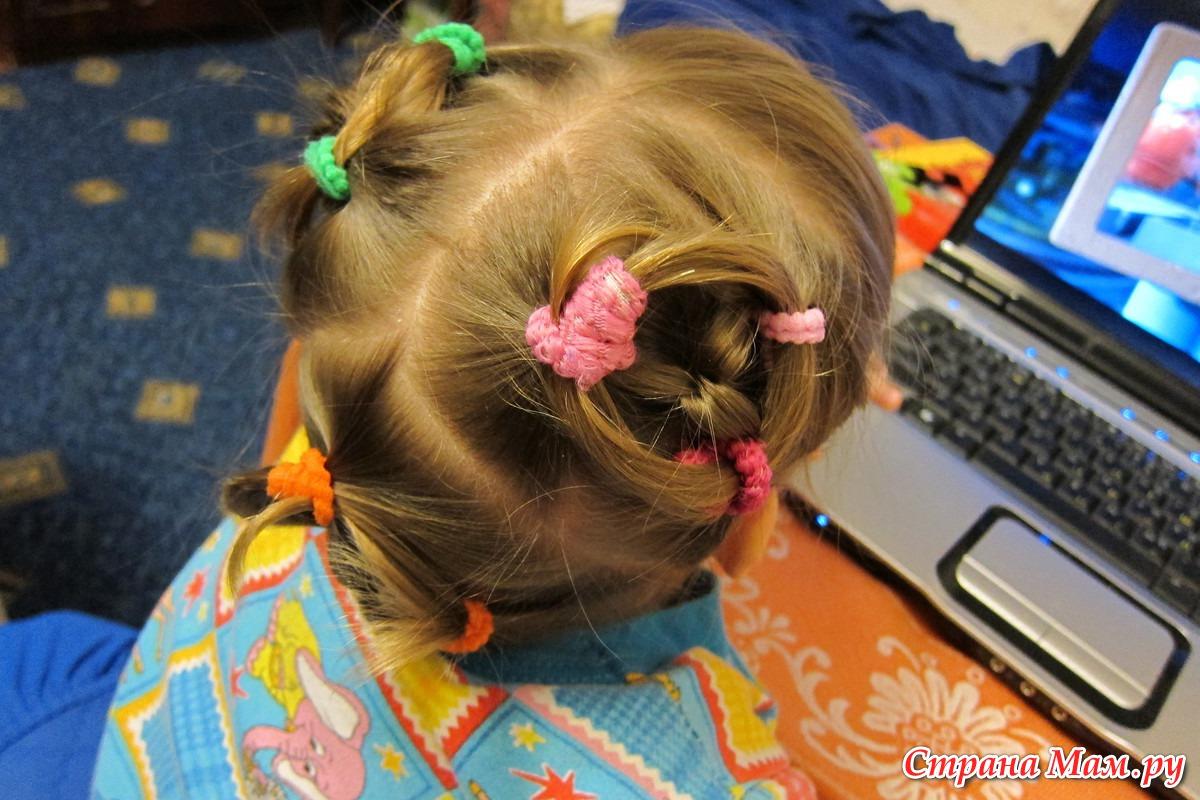 Прически на резинках на короткие волосы 113