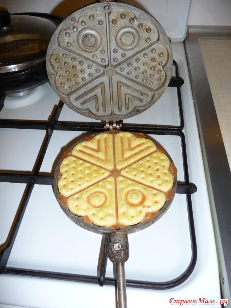 рецепт печенья в тяжелых формах на газу