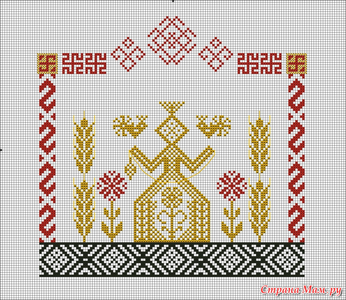 Узел любви славянский оберег значение схема вышивки 62