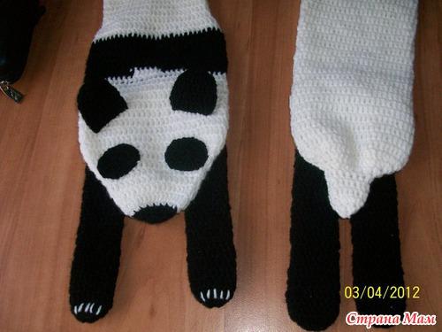 Дек 2012 шапка и шарф панда