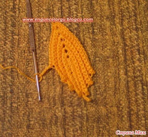 Кленовый лист крючком.