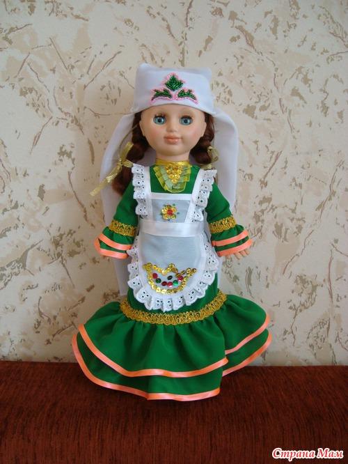 Как сшить татарский костюм для куклы
