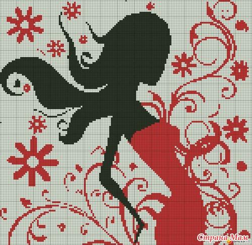 Схемы вышивок бесплатно черно-красные