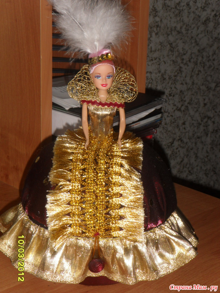 Кукла из пластиковой бутылки, шкатулка