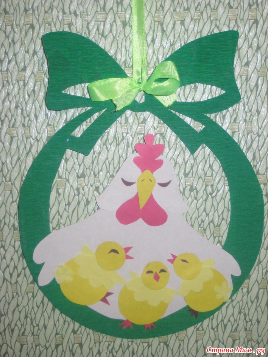 Поделка для детского сада на тему пасха