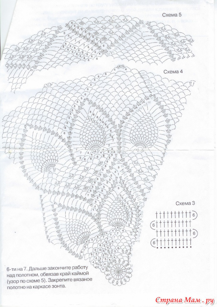 Схемы для вязания ажурных