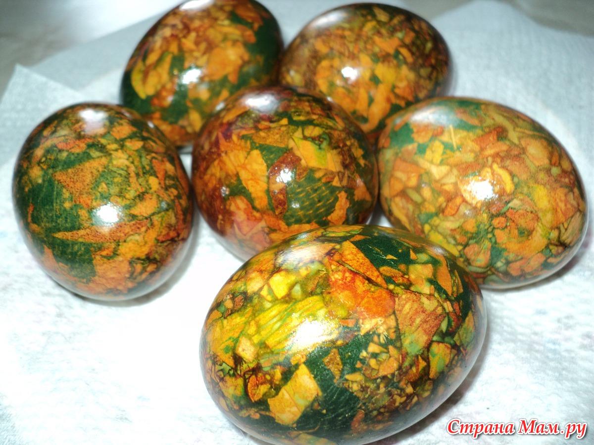 Яйца на пасху мраморные