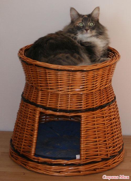 Корзины для кошки своими руками
