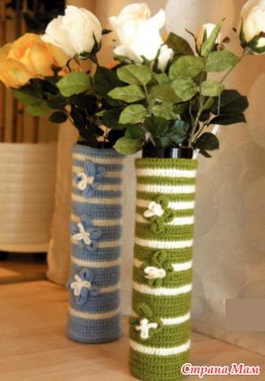 Схема вязания вазы крючком