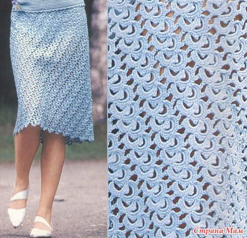 Крючком ру юбки