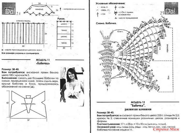 Топ-бабочка(схема, описание)