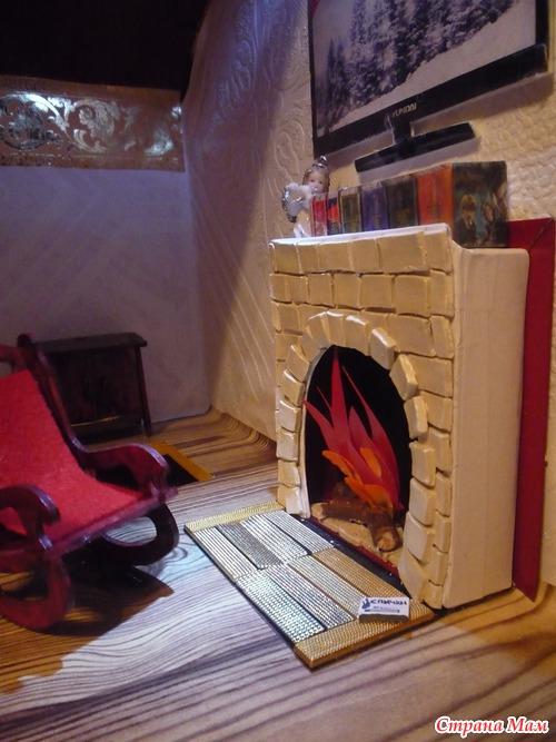 Как сделать камин дома из картона