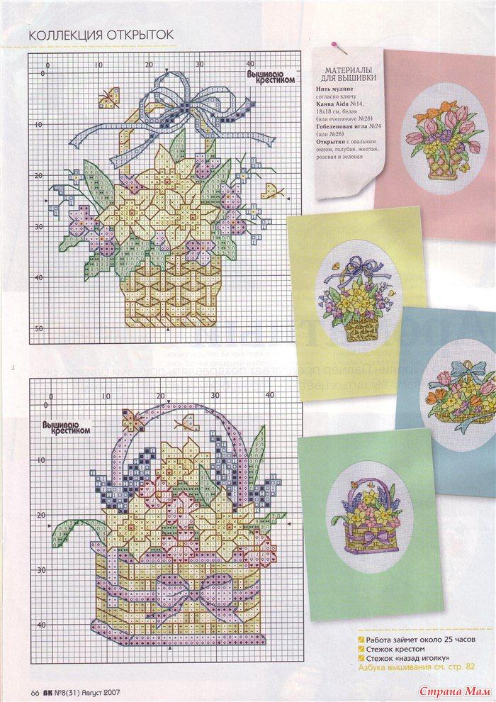 Схемы для вышивки крестом для открыток