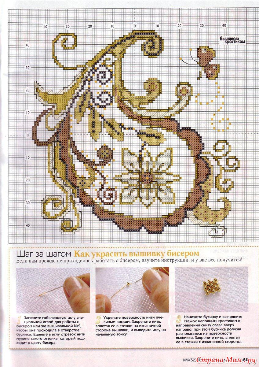 Схемы узоров для вышивки бисером на одежде 10 фотография