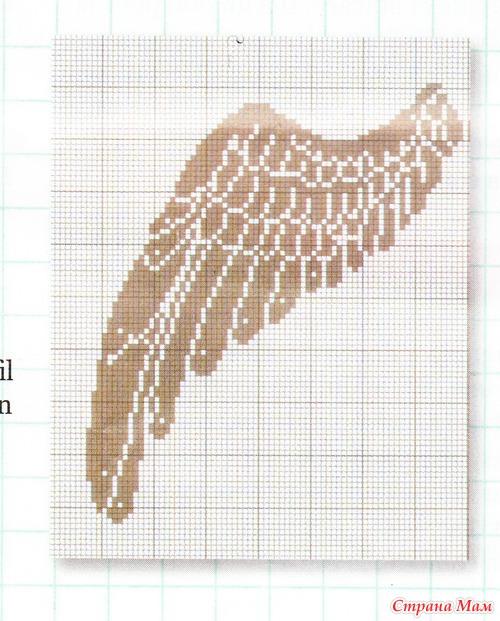 Вышивка крылья ангела 5