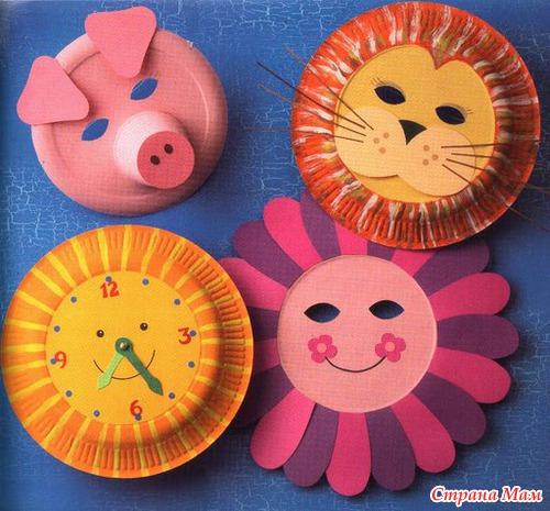 Поделки из одноразовых тарелок своими руками для детей