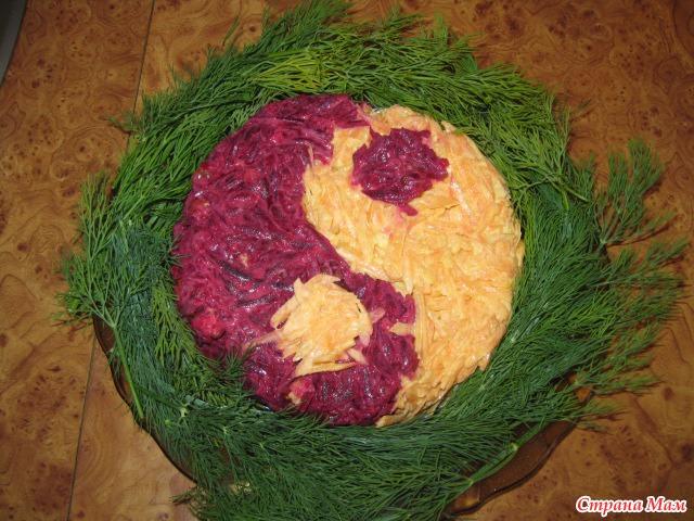 Салат инь янь рецепт