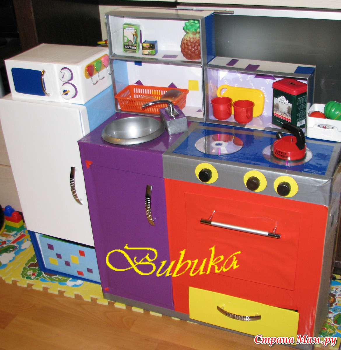 Детская кухня своими руками очень простая конструкция 92