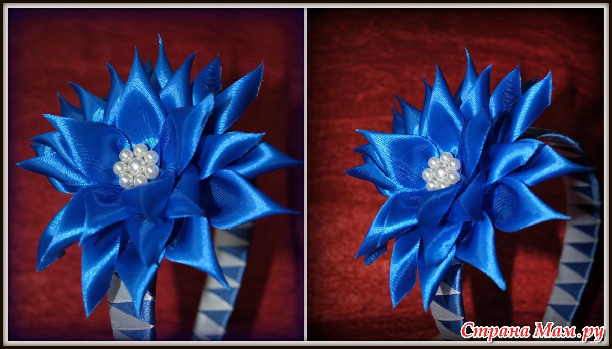 Как сделать цветы из ленты канзаши своими руками пошагово 83