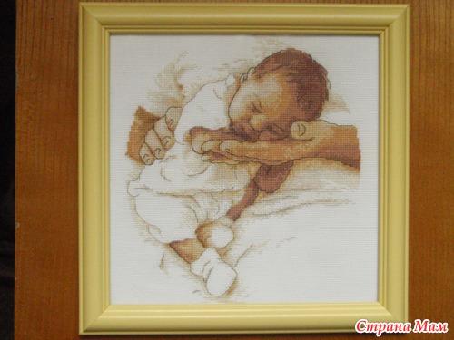 Спящий ребенок схема вышивки