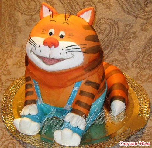 Торт из мастики коту