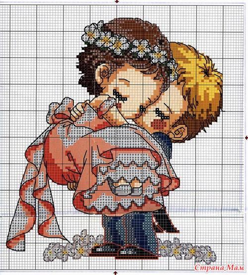 Схема вышивки крестом Жених и