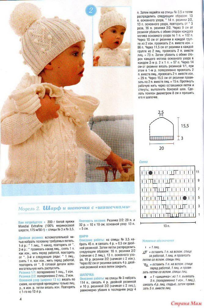 Схемы вязания спицами для детей с