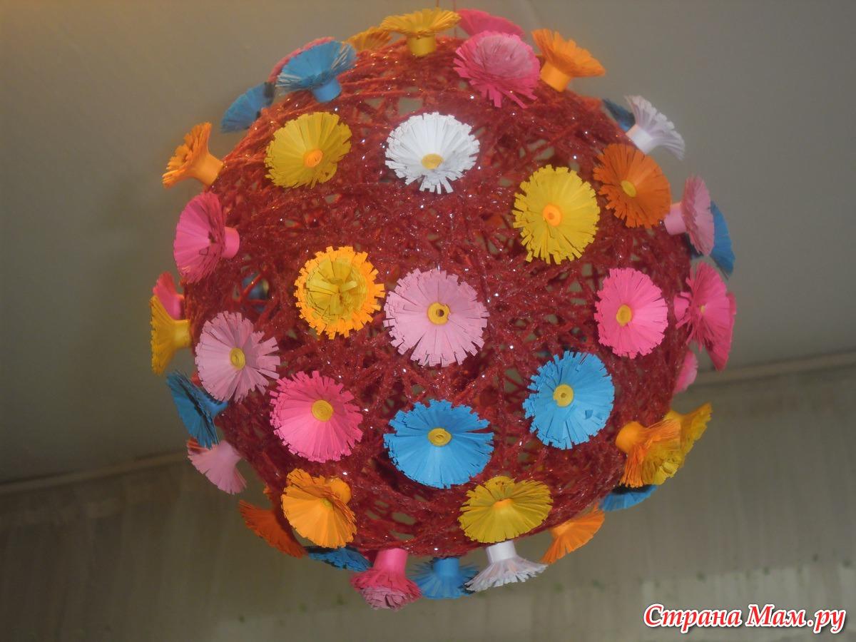 Поделки из шариков и ниток своими руками фото