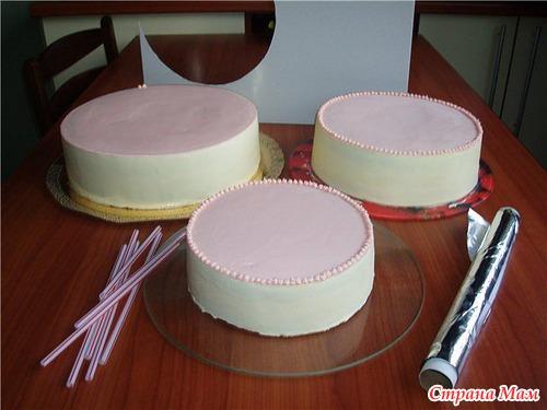 Как собирать торты многоярусные