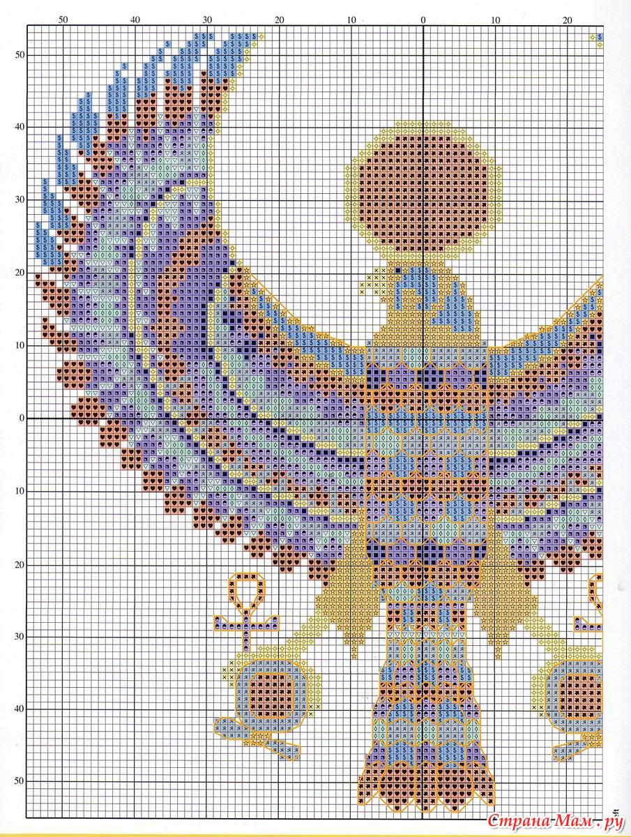 Схема для вышивания погребальной маски Тутанхамона
