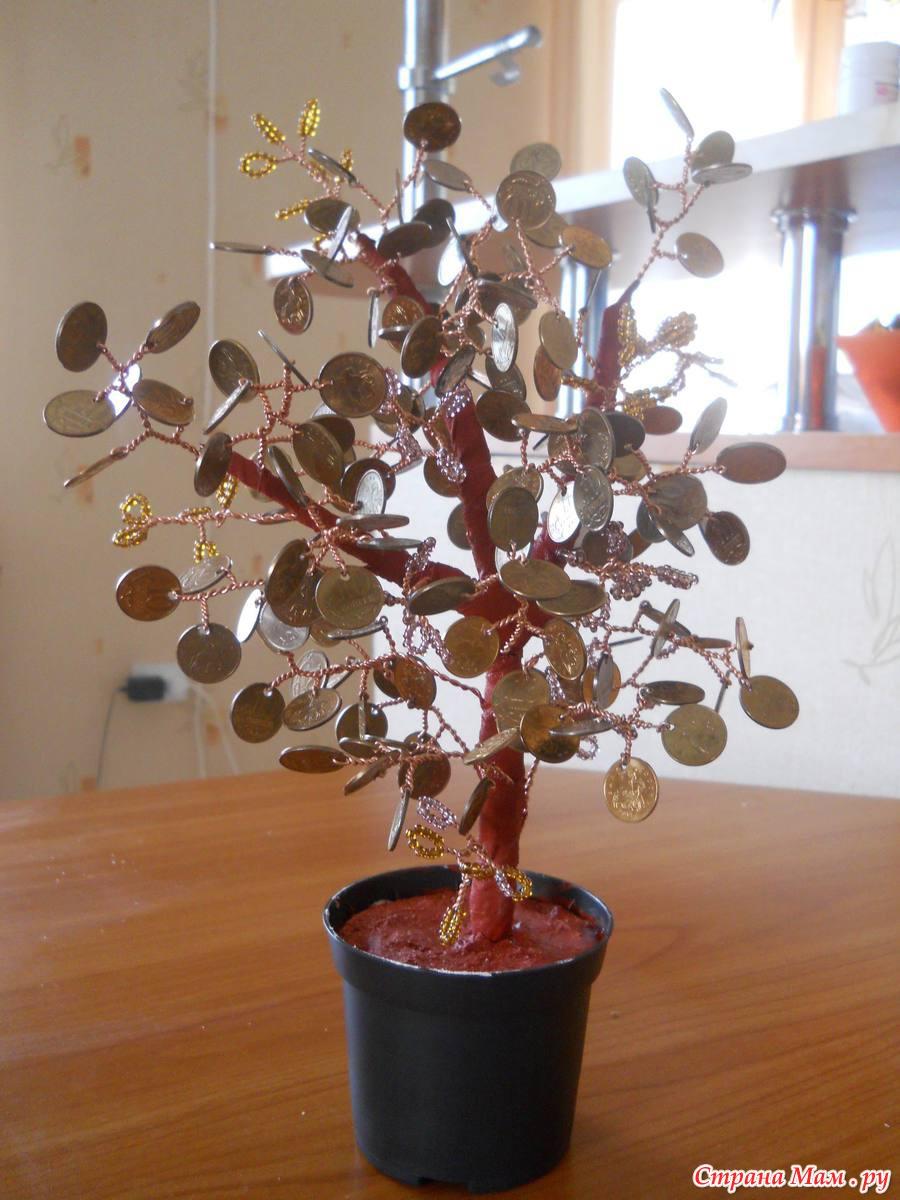 Картина Денежное дерево своими руками, мастер класс 63