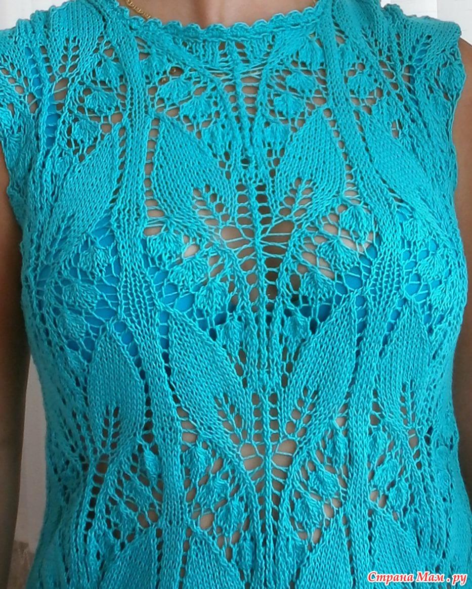 Красивый ажурный узор для вязания спицами Ландыши 87