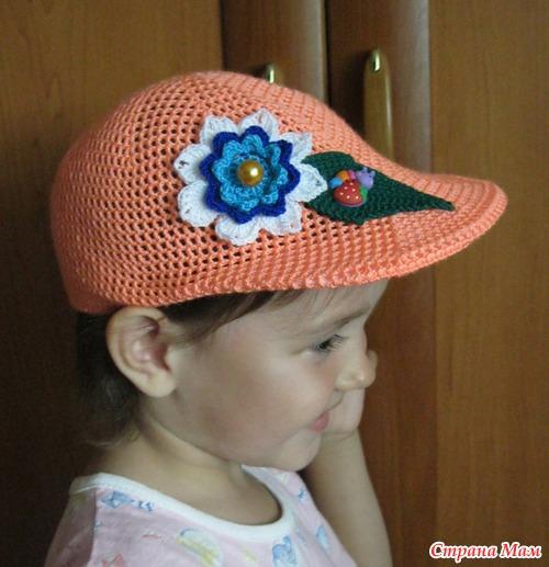 Вязание головные уборы для девочек 37