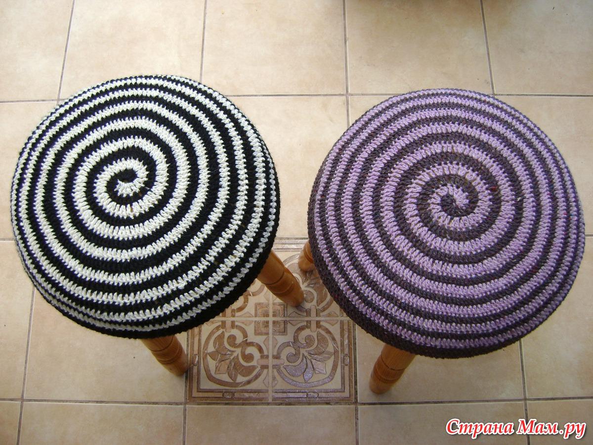 Вязание чехол на стул круглый