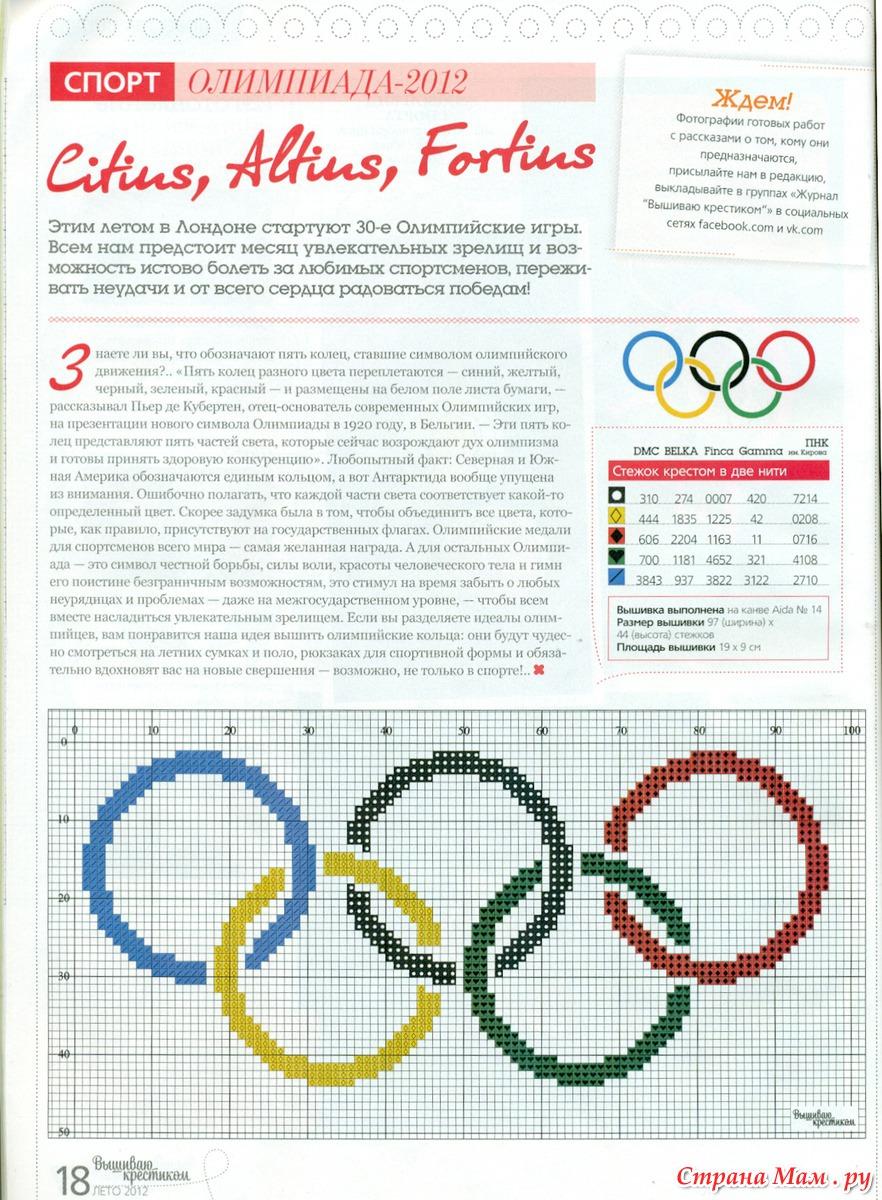 Вышивка крестом олимпийский мишка схемы