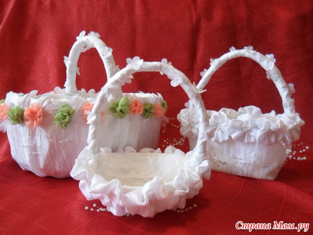 Как украсить свадебные корзины своими руками 65