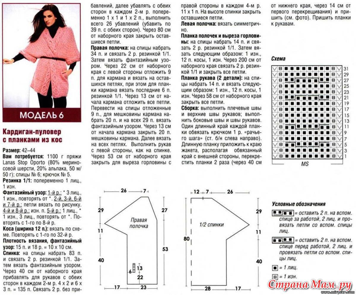 Модное вязание спицами с описаниями и схемами 155