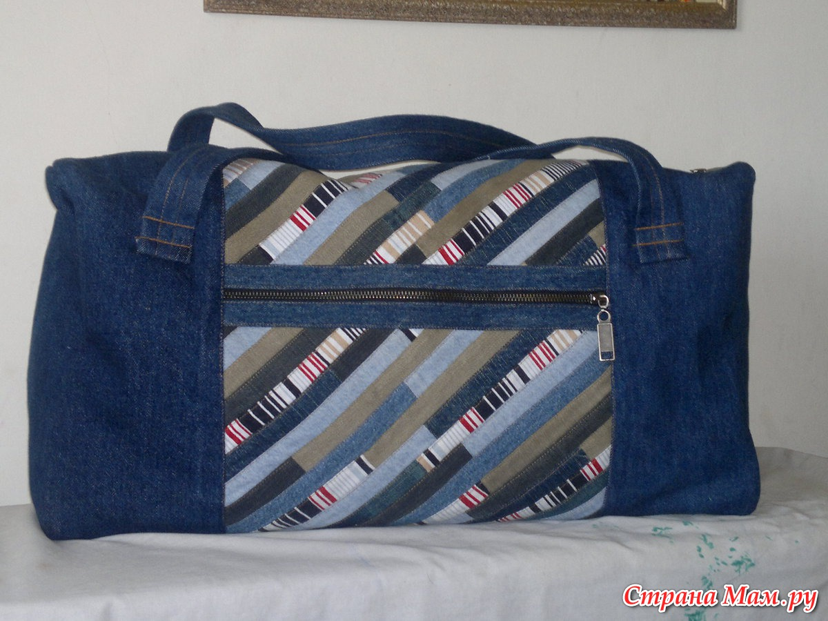 Спортивная сумка из старых джинсов своими руками выкройка