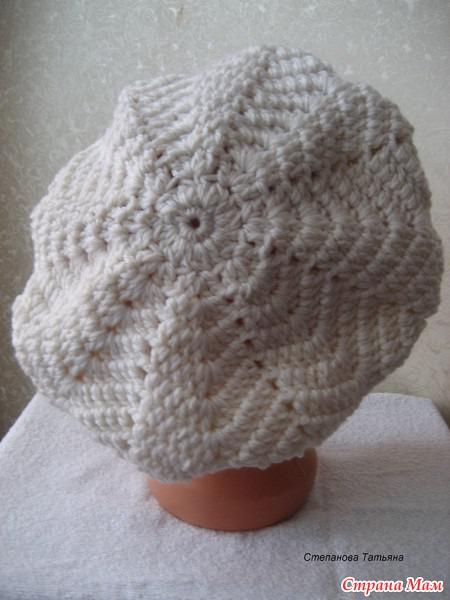 Женская шапка и берет спицами