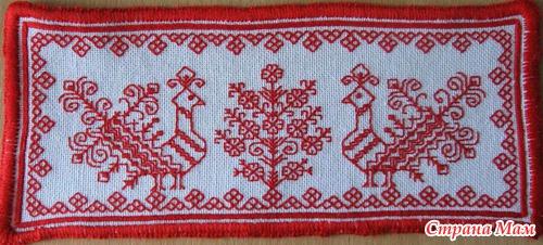 Вышивке русским швом