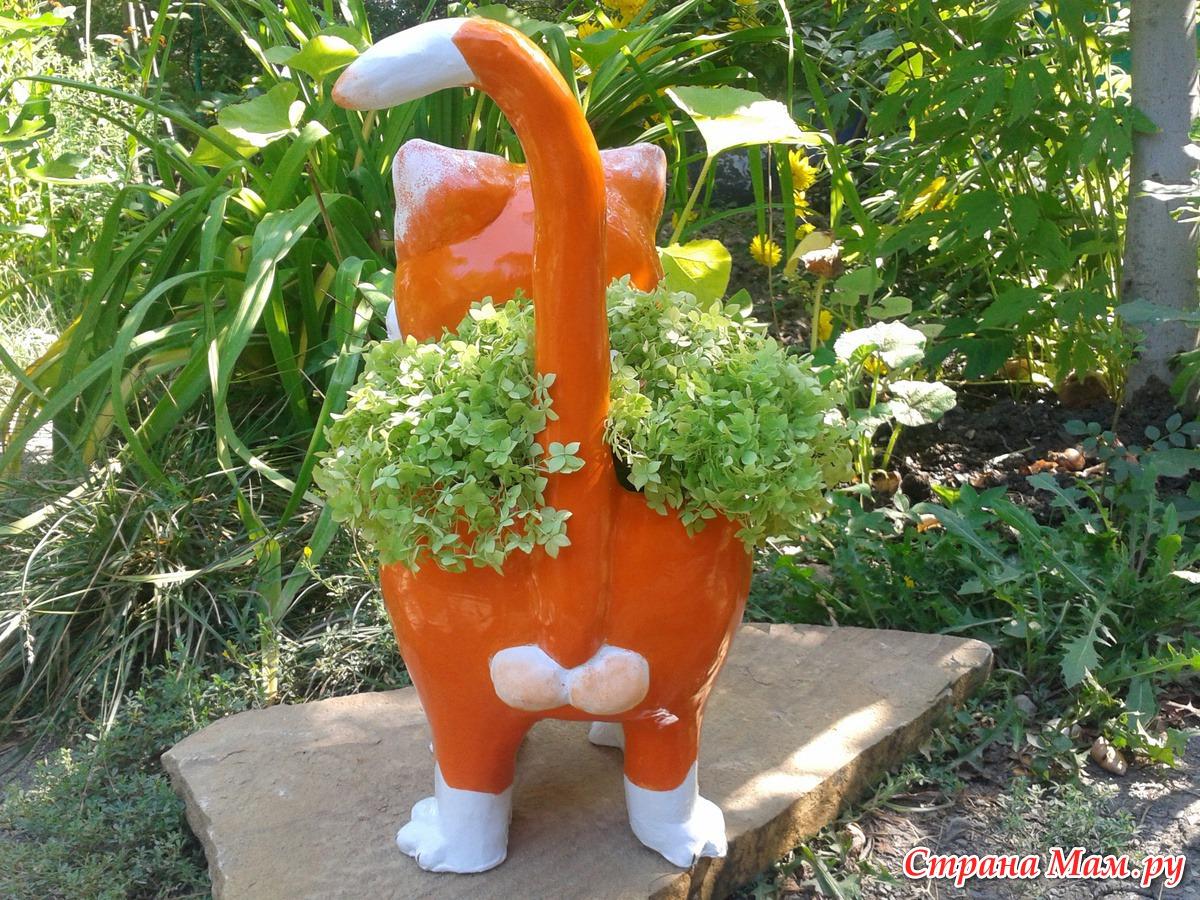 Гипсовые поделки для сада своими