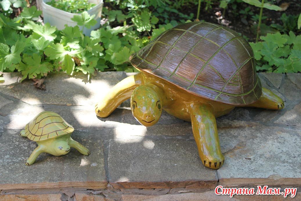 Черепаха для сада мастер класс