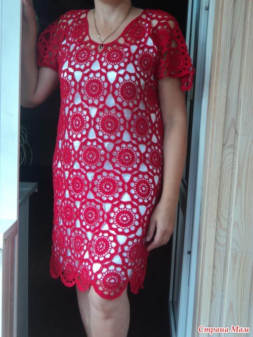 Подклад для платья крючком