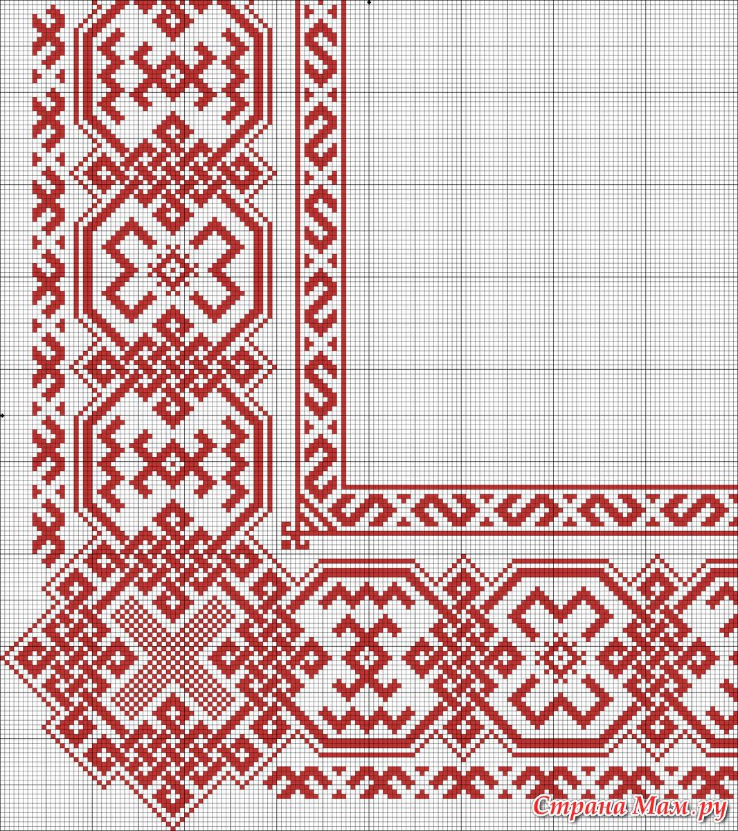 Вышивка крестом русская на рубахах