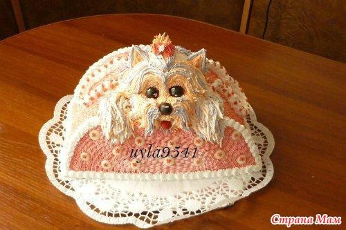 украшение тортов сливками фото зверюшек