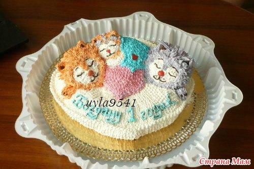Гуппи и пузырьки торт фото 1