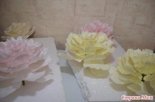 Фотоотчет по лепке цветов из мастики